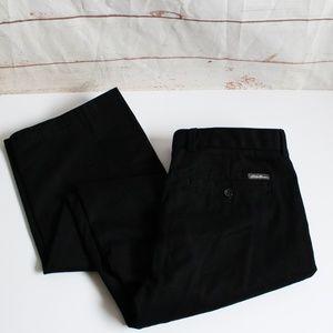Eddie Bauer Black Wrinkle Free Relaxed Fit Pants